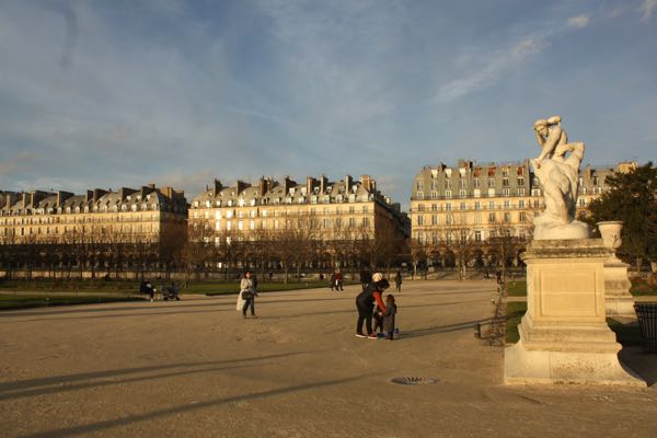 Tuileries Gardens in Paris, France. Active boomer