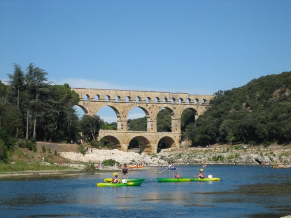 Kayaking by the Pont du Gard, France Active boomer
