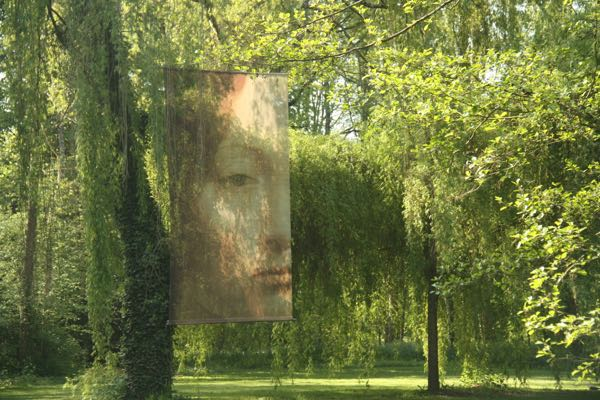 Artwork outdoors at Clos Luce