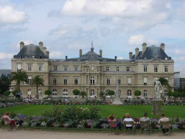 Picnic in Concert in Luxembourg Gardens in Paris, France