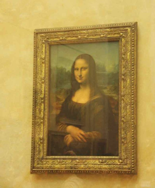 Mona Lisa at the Louvre Museum, Paris