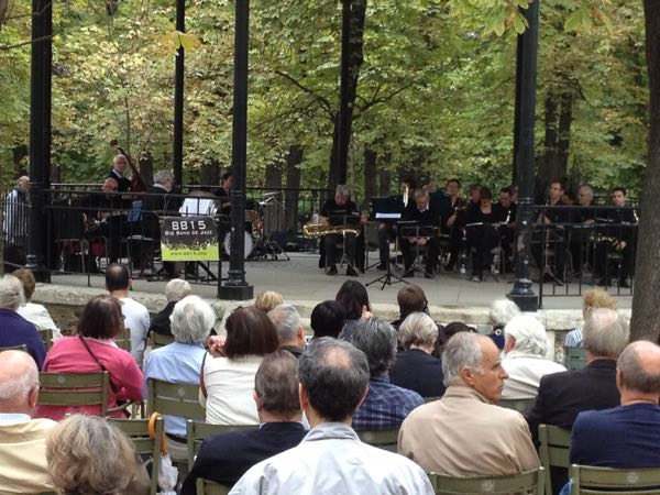 Picnic and Concert in Luxembourg Gardens in Paris, France