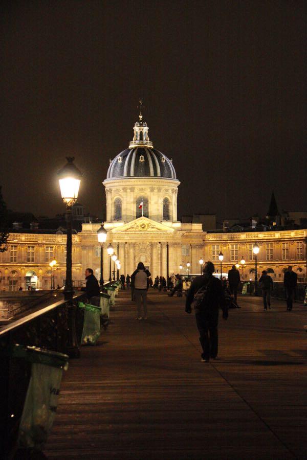 Picnic on Pont des Arts, Paris France