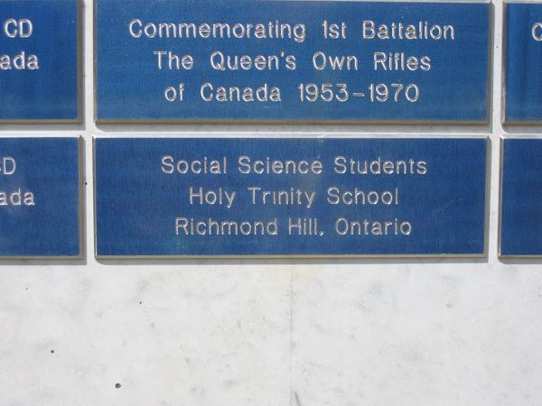 Holy Trinity School Plaque D-Day Normandy