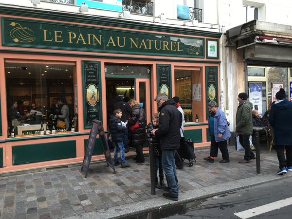 Le Pain Au Naturel at Marche Aligre and Le Baron Rouge