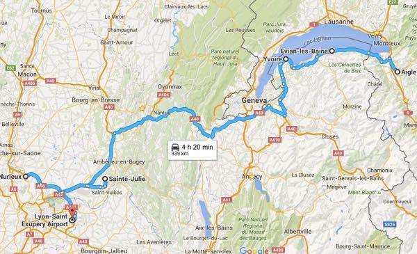 Switzerland to Lyon French Alps