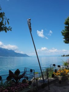Montreux art on boardwalk