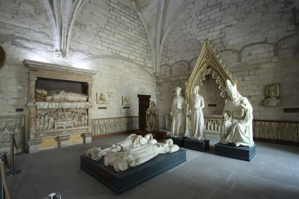 Effigies in the Palace des Papes, Avignon France