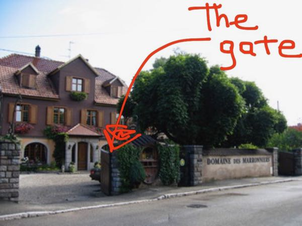 Lesson Learned: Gite gate in the Alsace, France