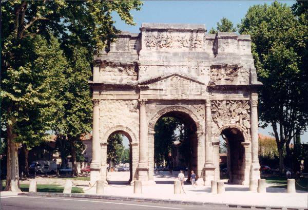 Arches: Arc de Triomphe in Orange, France