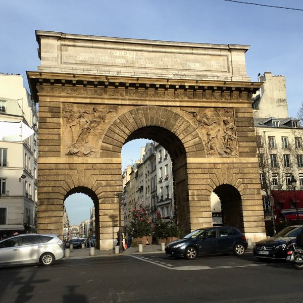 Arches: Porte Saint Martin, Paris