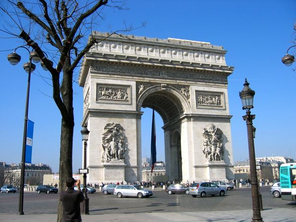 Arches: Arc de Triomphe de l'Etoile Paris, France