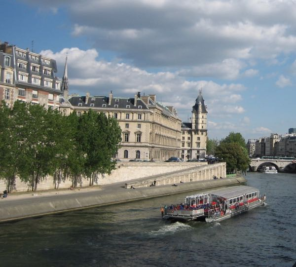 Cruising on the Seine River, Paris France