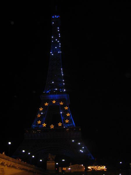 Cruising the Seine at night