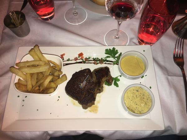 Steak Frites at L'Etoile 1903 in Paris, France