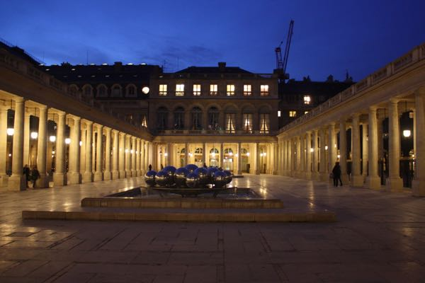 Palais Royal at night, Paris France