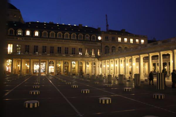 Palais Royal at night, Paris France
