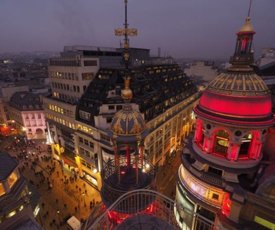 View from Printemps terrace at night