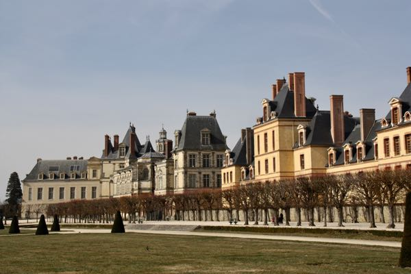 Off-season (March) in Fontainebleau, France