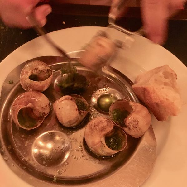 Traditional escargot snails