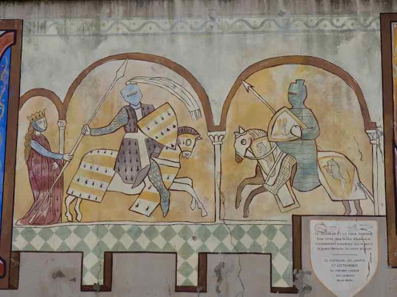Murals Outside Of Notre Dame de L'Abbaye (J. Chung)