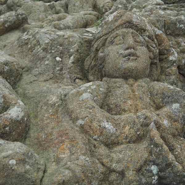 Figure at Rochers Sculptés in Rothéneuf, France