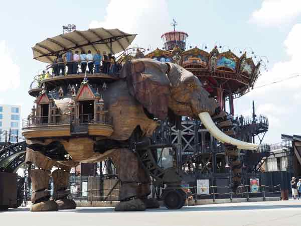 Elephant at the Carrousel des Mondes Marins