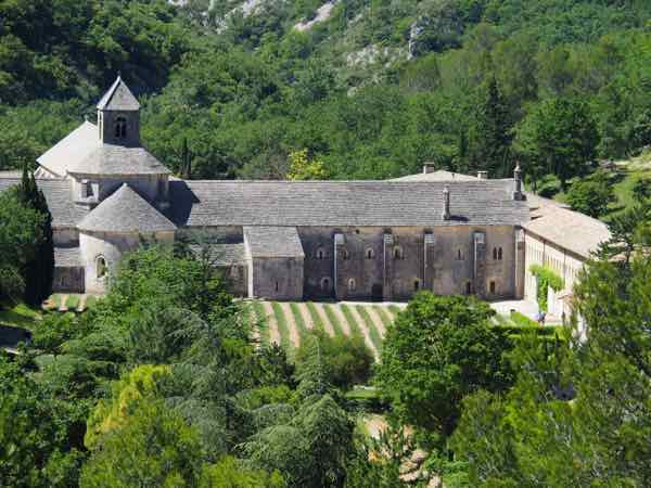 View of the Abbey de Senanque during a walk to and from Gordes