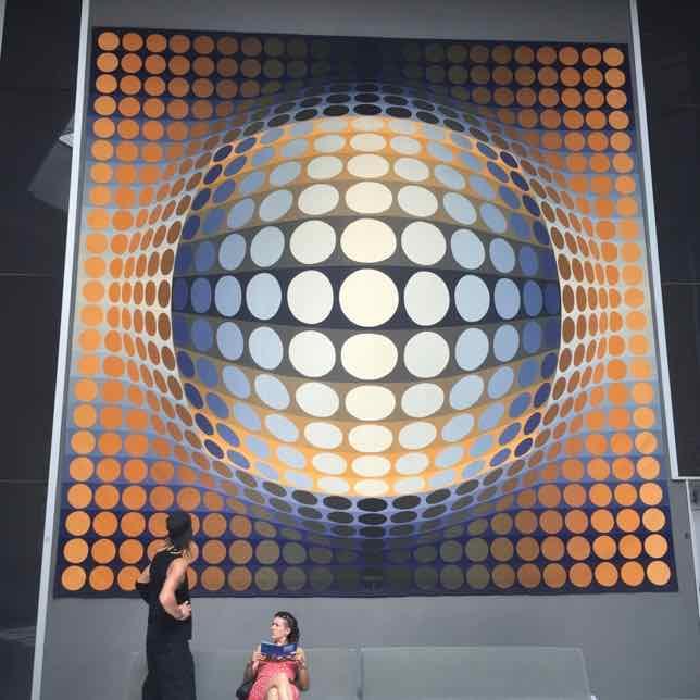 Optical illusions at Fondation Vasarely, Aix-en-Provence