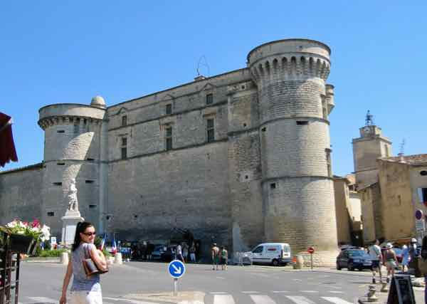This is the Chateau de Gordes in the main square.