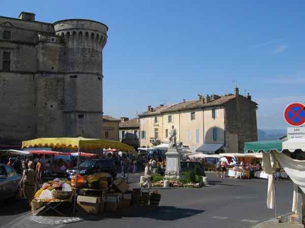 Market day in Gordes, Provence