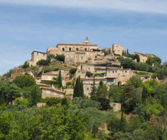 Town of Gordes which is enroute to my house in Provence: La Bastide des Chenes