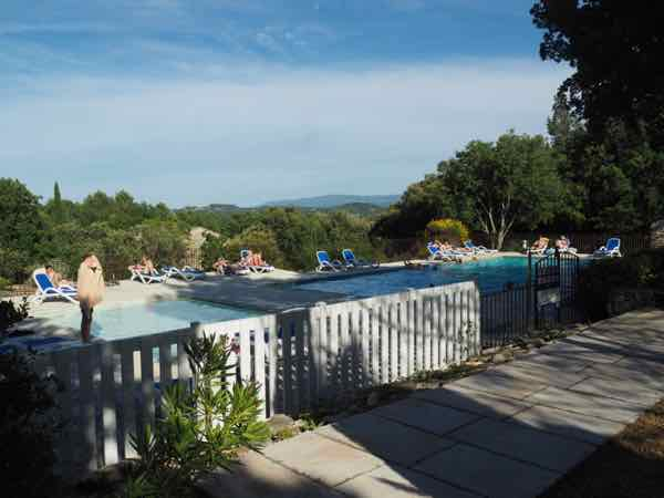 Pool at La Bastide des Chenes in Gordes , France