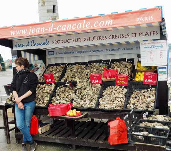 Cancale oyster market, Brittany, France. J Chung