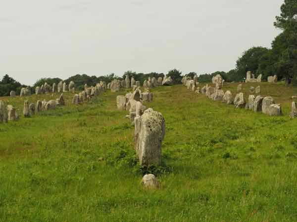 Carnac alignment of stones