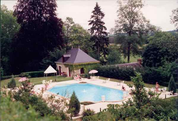 The pool at Chateau de Chissay, France. J, Chung
