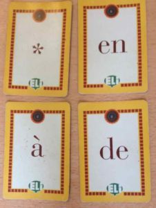 French immersion at Accent Francais: preposition cards