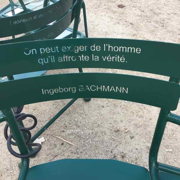 Les Confidents chairs at Palais Royal