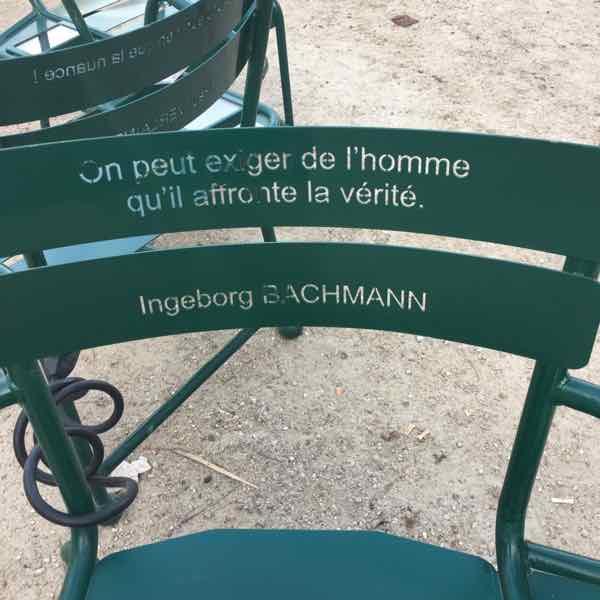 Les Confidents chairs at Palais Royal