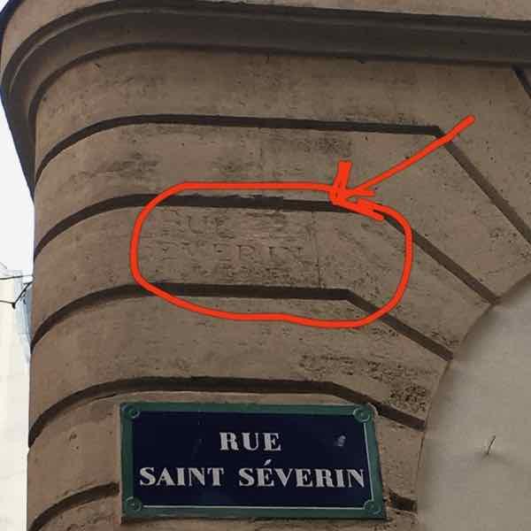 Rue Saint Severin Sign