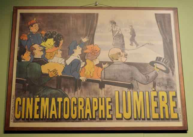 Poster at the Lumière Museum In Lyon