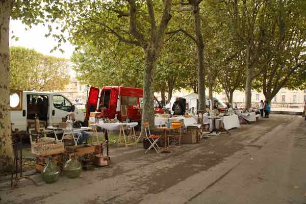 Brocante at Place Royale de Péyrou Montpellier
