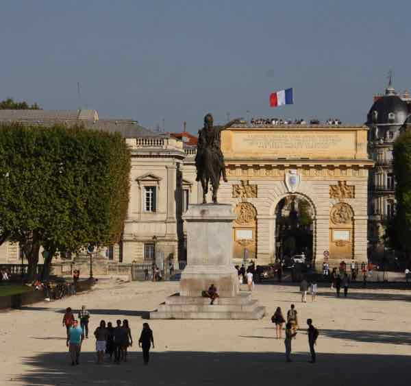 Montpellier Arc de Triomphe and Statue of Louis XIV