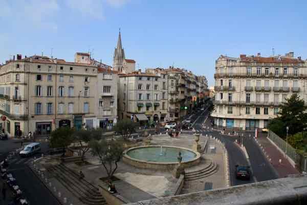 Esplanade Leo Mallet in Montpellier (J. Chung)