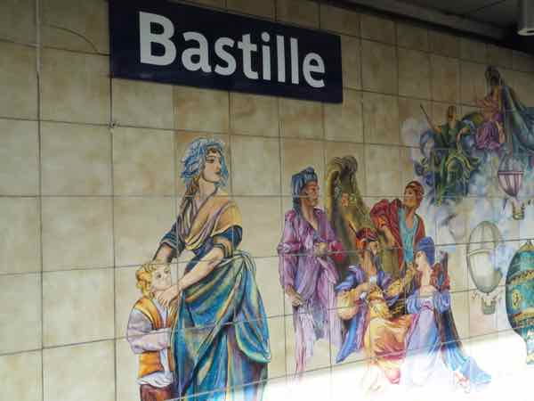 Mural at the Bastille Metro