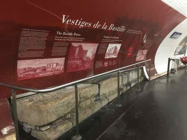 A piece of the Bastille fortress' foundation