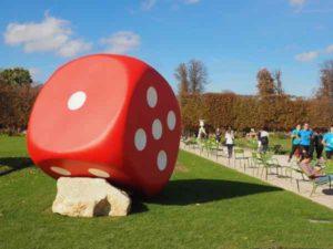 Art on display at Tuileries Gardens, Paris
