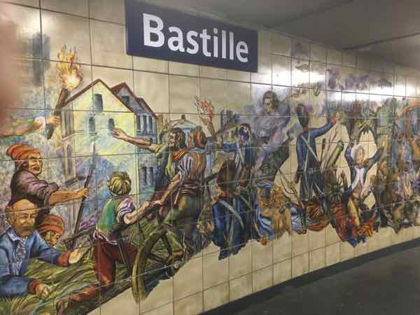Bastille Metro Art in Paris