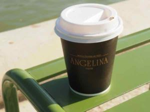 Hot chocolate from Angelina, Paris