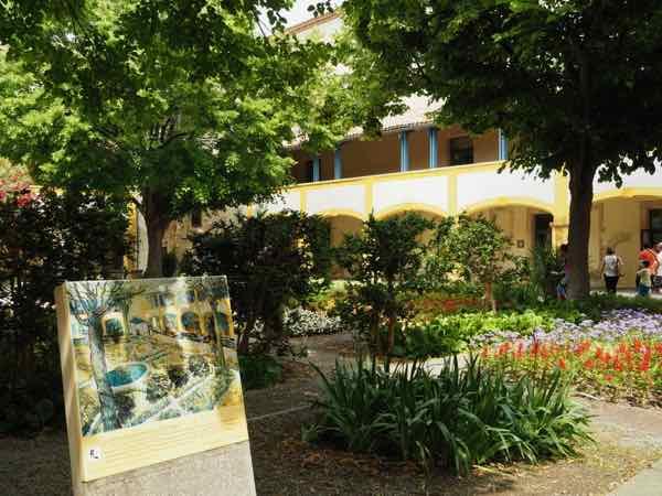 Le jardin de la maison de sante